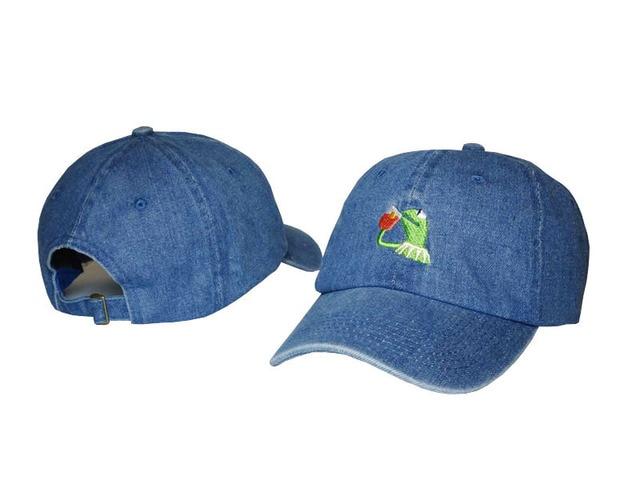 LeBron James Pepe Frog Baseball Cap Men Snapback Hip Hop Caps Women Casual  Dad Hat Blue Black White Khaki 256373d56c5