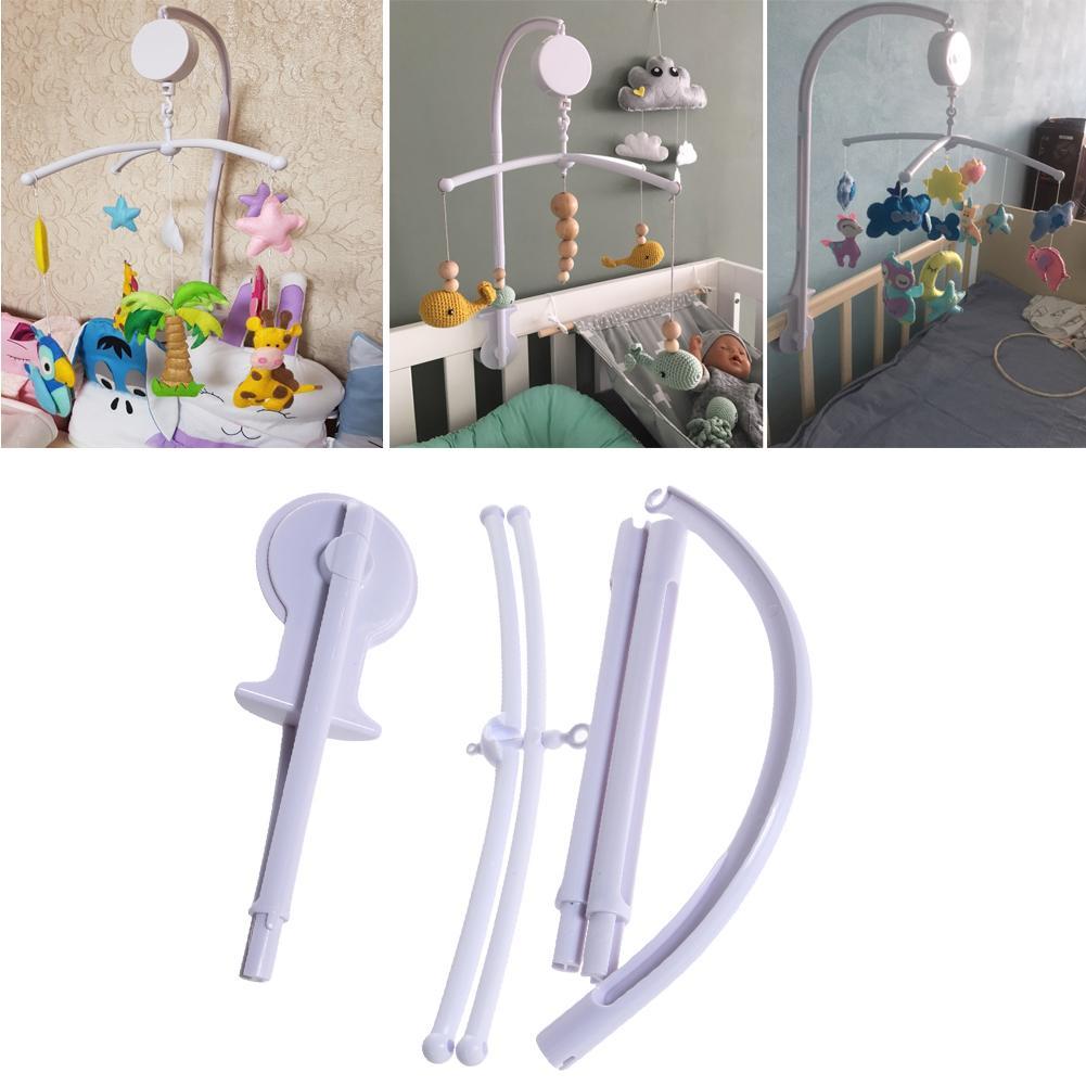 Baby Crib Holder ABS Plastic Plush Hanging Baby DIY Crib Mobile Bed Bell Toy Holder  Degree Rotate Arm Bracket