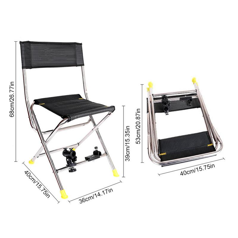 Terrific Us 26 08 30 Off Multifunctional Folding Black Fishing Chair High Quality Stainless Steel Portable Recliner Outdoor Fishing Camping In Fishing Chairs Creativecarmelina Interior Chair Design Creativecarmelinacom
