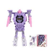 Transformation Cartoon Robot Electronic Watch for Children Manual Transformation