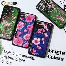 CASEIER Liquid Glitter Sand Phone Case For iPhone 6 6s 7 8 Plus Quicksand 3D Relief Cover X  Funda Capinha