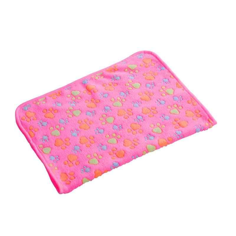 Горячее зимнее использование аксессуары для собак Флисовое одеяло для собак теплое мягкое Сенсорное покрывало для собаки одеяло украшение домашних животных поставщик