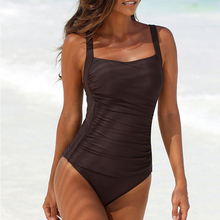 цены 2020 New Sexy solid one piece swimsuit female High cut swimwear women bathing suit Monokini brazilian bikini Summer swim