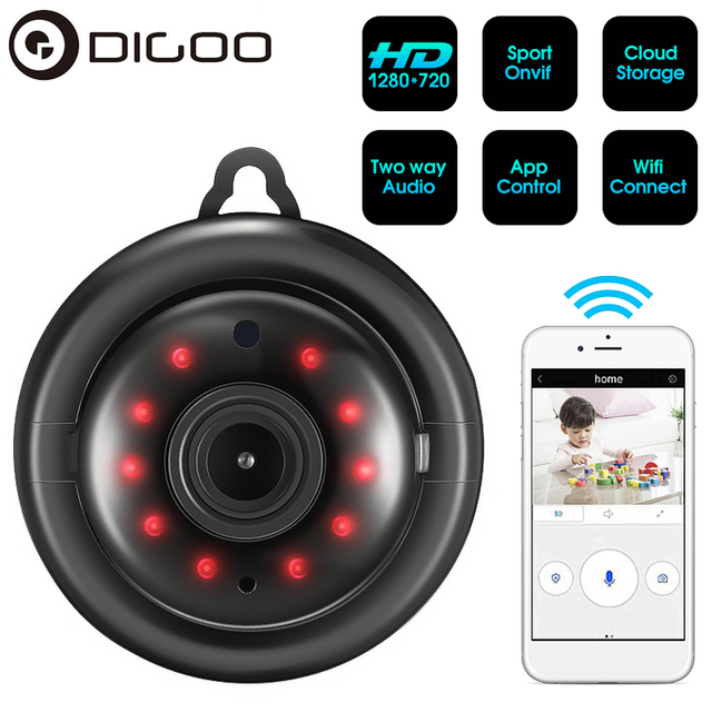 DIGOO DG-MYQ 2.1mm Lens 720P  Wireless Mini WIFI Night Vision Smart Home Security IP Camera Onvif Monitor Baby Monitor 1