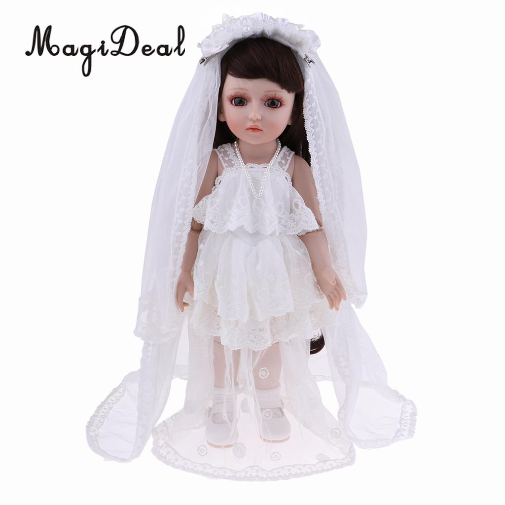 Huggable 8 Joints SD <font><b>BJD</b></font> Bride Doll <font><b>Clothes</b></font> Shoes Set Kids Children Birthday Christmas Creative Gift image