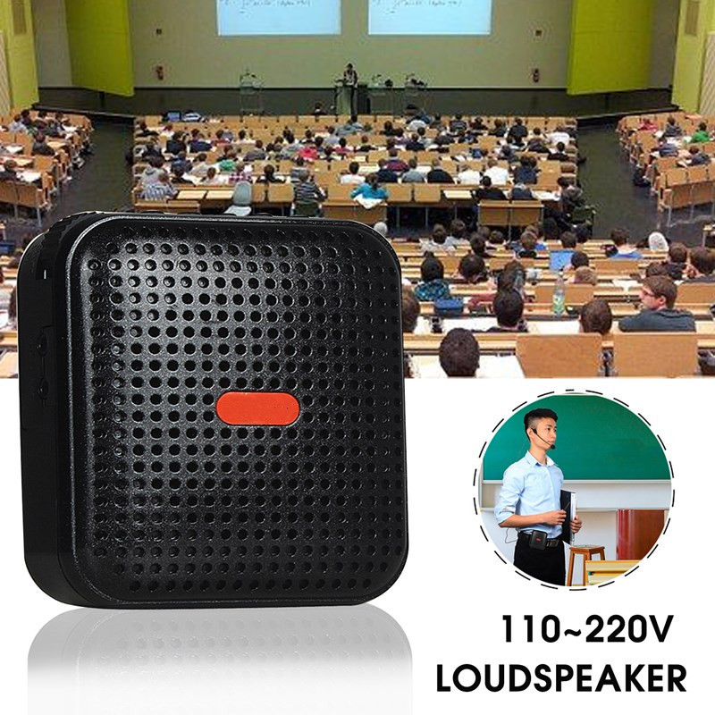 Loudspeaker Voice-Amplifier Microphone Portable KINCO Battery 1 with for Teaching Guiding