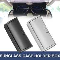 1pc Car Front Sun Glasses Case Box Organizer Holder Plastic Storage Box for BMW X5 X6 F15 F16 2014 2017 Black/Grey