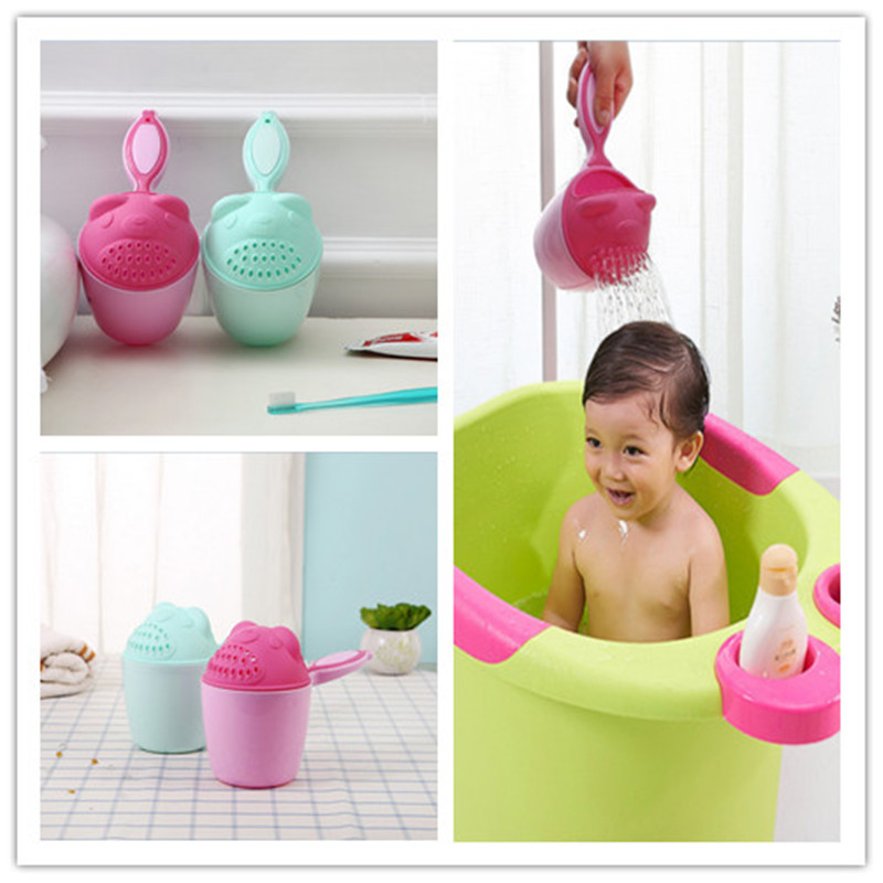 PUDCOCO Baby Shampoo Rinse Kids Wash Bath Cup Bathing Water Shower Pouring Toys