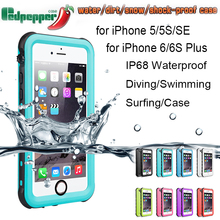 Redpepper Dot+ Waterproof Swimming Shockproof Case For iPhone 5S SE 6 6S Plus Series IP68 Diving Retail B