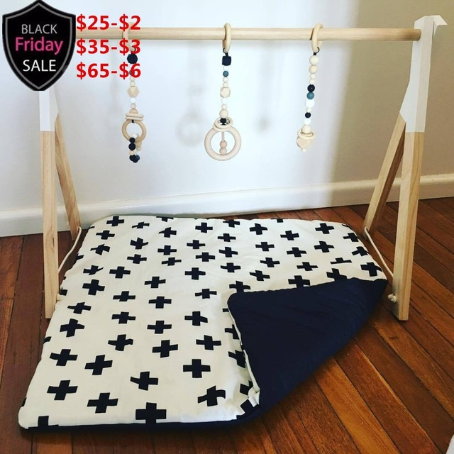 Us 790 Original Wood Baby Gym With Toy Set Activity Gym And Baby Newborn Gift Wooden Mobile Decoration Rack Pinkblueblackwhitegreen In