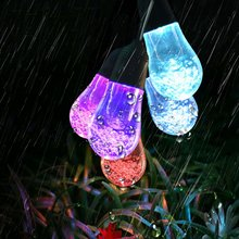 Street 5.3m 12LED Solar String Light Waterproof Lamp String for Holiday Christmas Decoration guirlande lumineuse exterieur(China)