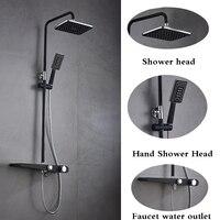 Bathroom Shower Faucet Set Brass Black Bathtub Faucets Shower Taps with Shower Head Wall Torneira Tap Shower Head