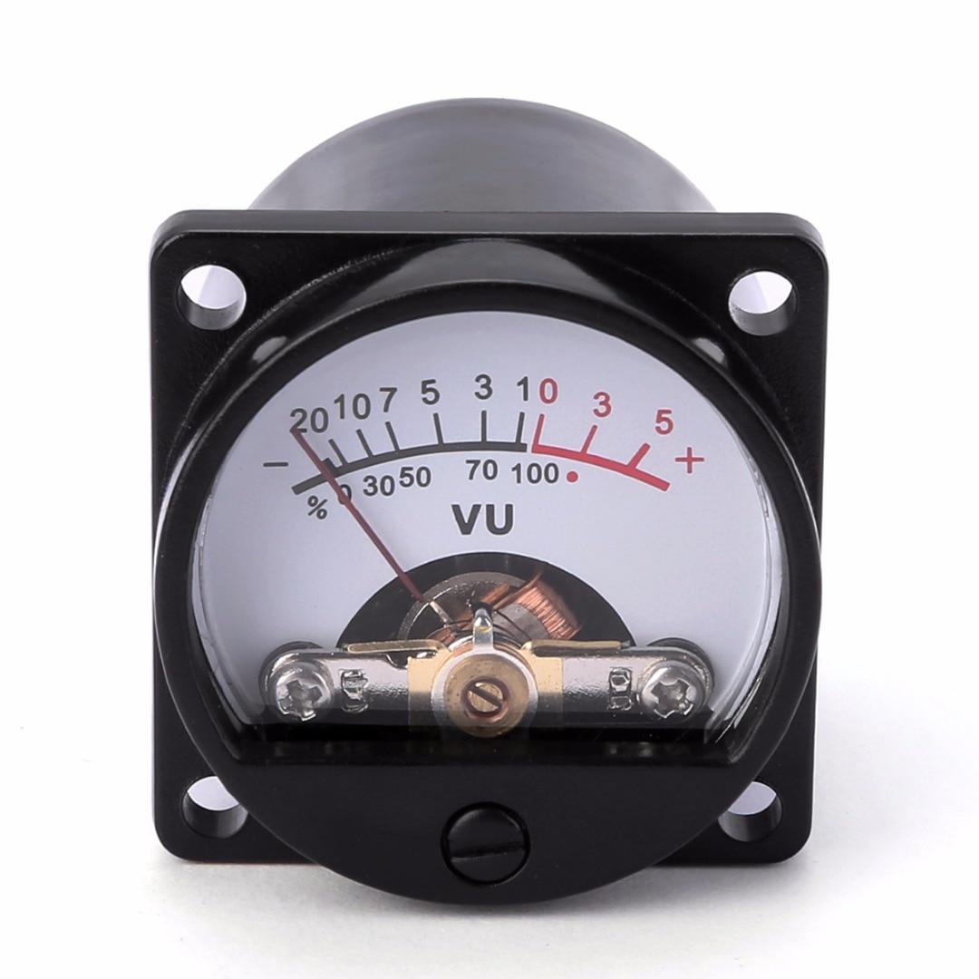 1pc New Black Durable 6-12V Panel VU Meter  Bulb Warm Back Light Recording Audio Level Amp Meter  For Audio  Equipment