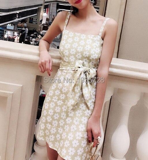 2019 femmes Robe Peut Élégant Deux Et Avec Mini Gamme Liens Imprimé Robe Bracelet Soie Jaune Haut Fermeture Mélange Il Style Des De Plage Floral Porter qzv4E
