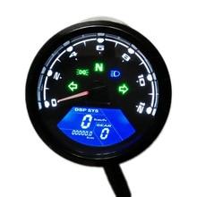 Universal Digital Motorcycle Speedometer Odometer Techometer Gauge Dual Speed LCD Screen For 1-4 Cylinders SH-368 все цены