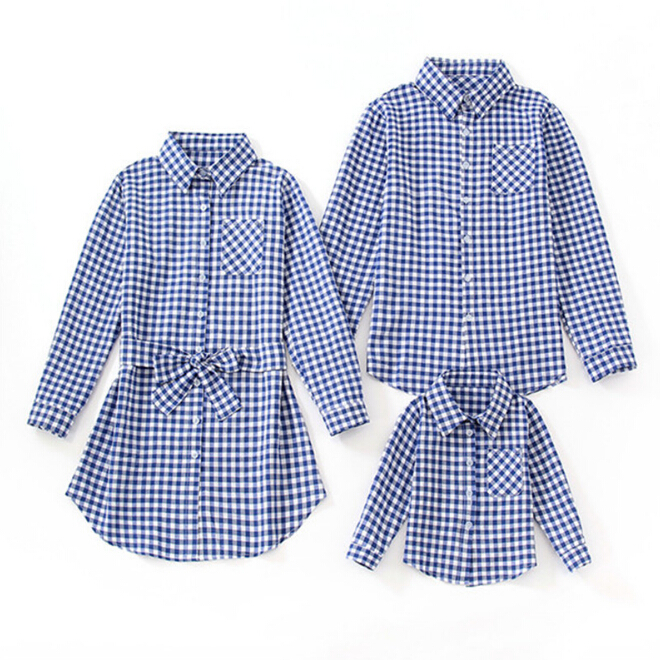Mother & Kids Flight Tracker 2019 Canis Mother And Daughter Match Christmas Plaid Shirt Women Girls Casual Family Spring Clothes Terrific Value