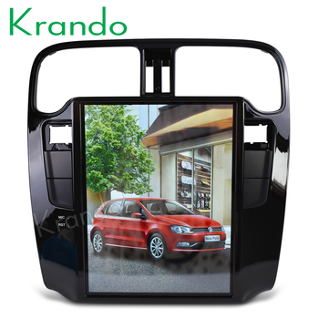"Krando  Android 8.1 10.4"" Tesla Vertical car multimedia player GPS for VW Volkswagen Polo 2015+navigation system radio audio BT"