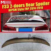F33 AEPSM style Spoiler FRP Primer black rear lip wings For BMW 4 Series F33 2 doors 420i 430i rear trunk Spoiler wing Lip 14 18