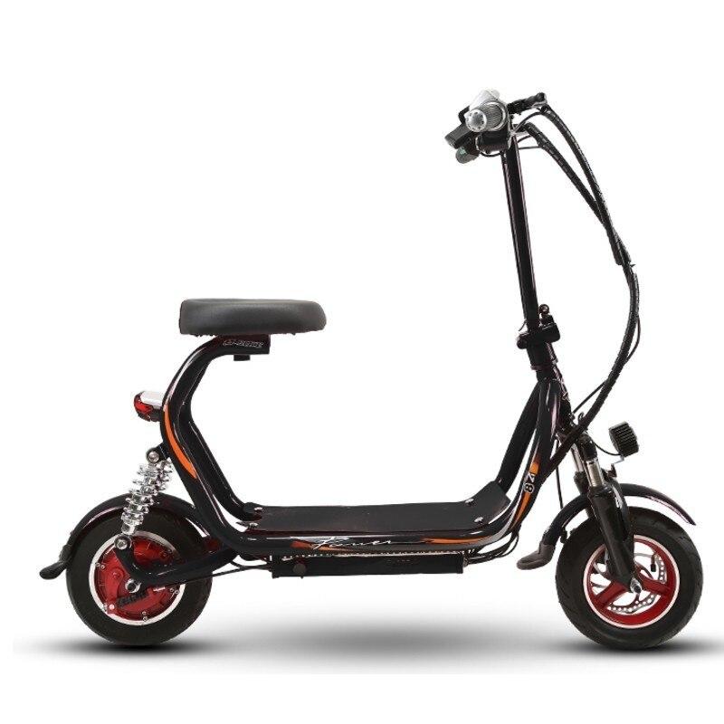 Nouveau 48 V Harley scooter électrique petit scooter large pneu moto deux places cyclomoteur