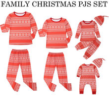hirigin Family Pajamas Set Adult Women Kids Baby Long Sleeve Casual  Snowflake 498d5be6d
