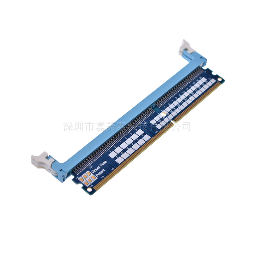 US $7 02 11% OFF|DDR3 240Pin/DDR4 288Pin Memory Test Protextion Slot  Adapter Board Increase Card for Desktop Memory Card-in Computer Cables &