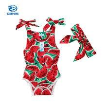 c87849d6ae041 CANIC 2019 Neue Sommer Baby 2 stücke Cartoon Jungen Mädchen Overall Infant  Kostüme Neugeborenen Körper Baby Kleidung Schöne baby.