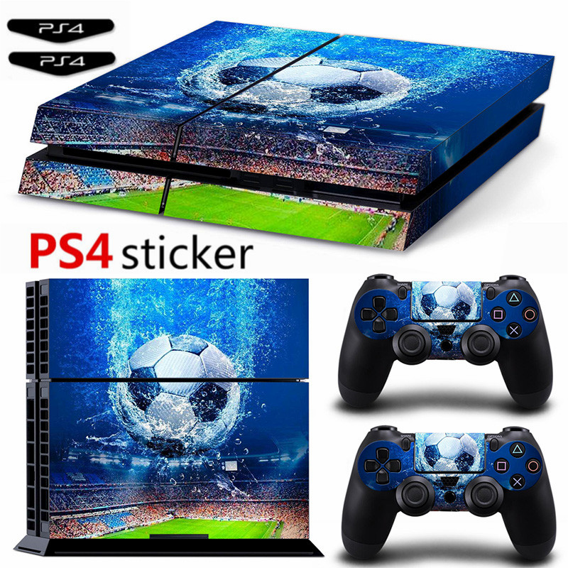 Football Ps4 Sticker Vinyl Cover Decal PS4 Skin for PS4 Console and 2 Controllers