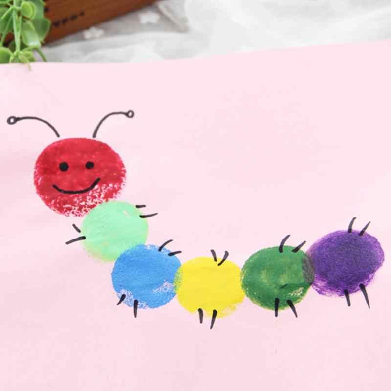 Sponge Paint Brush Seal Sponge Brush Wooden Handle Children's Painting Tool Graffiti Kids Diy Doodle Drawing Toys 4pc/lot Yellow
