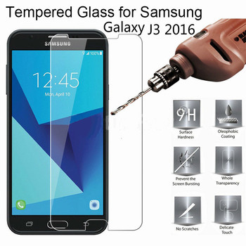 For Samsung Galaxy J3 2016 Screen Protector For Samsung SM J320 F H A Tempered Glass 2.5D Scratch Proof Protective Film Glass 9H