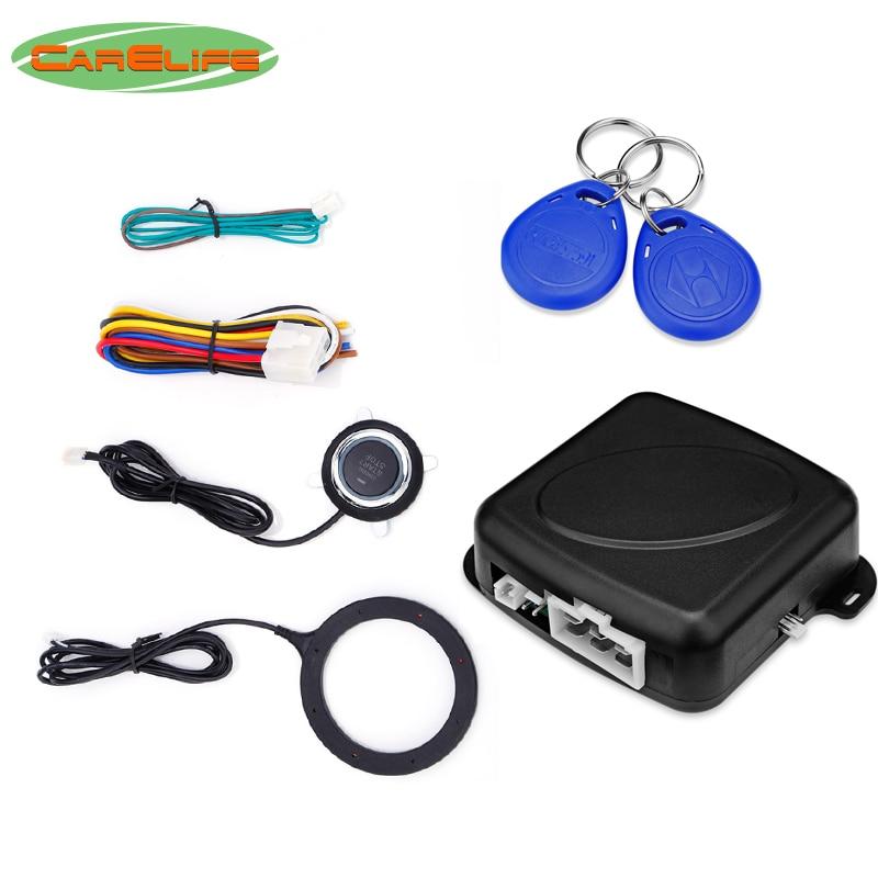 Keyless Entry Car Push Start Button Rfid Lock Engine: Car Engine System One Button Push Start Stop With RFID