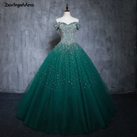 2019 длинный зеленый Quinceanera платье милое бальное платье 16 Fromal платье для выпускного вечера для 15 лет Quinceanera Платье для вечеринки De 15 Anos