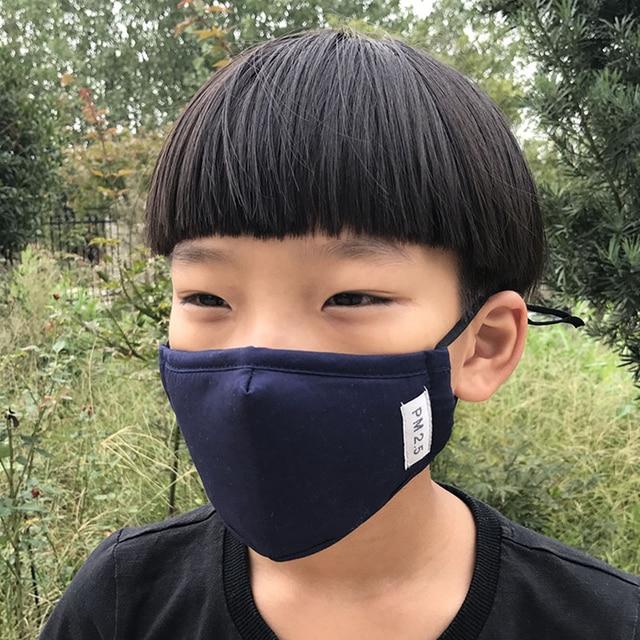 4PCS Kids Children Mouth Masks Activated Carbon PM2.5 Warm Mouth Covers Anti Dust Masks Women Men Cotton Face Cover Mask 4