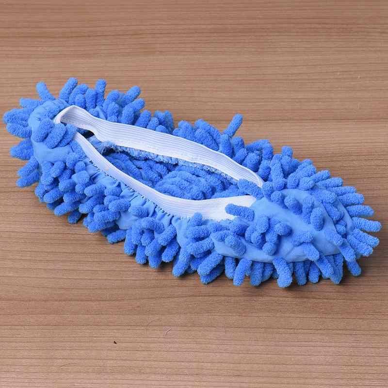 ダストモップスリッパ怠惰な家の床研磨クリーニング簡単足靴下靴カバーポリエステル固体防塵クリーナークリーニングモップスリッパ