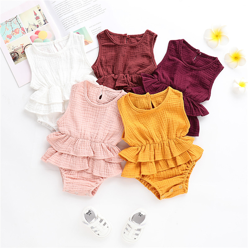 87e7f35b7 0-24M Newborn Kid Baby Girl Clothes Sleeveless Romper Playsuit Tutu ...