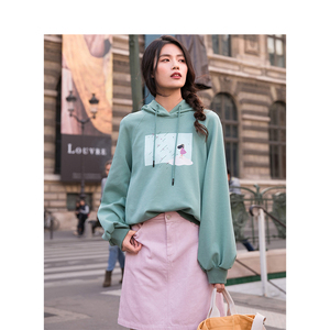 Image 4 - INMAN Spring High Waist Retro Artistic Style Korean Student A Lined Chick Short Skirt