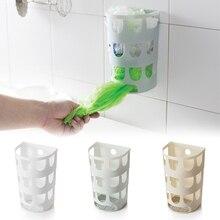 Многофункциональные настенные мешки для мусора, лоток, коробка для хранения, пластиковые пакеты, держатель для кухонной посуды, органайзер для мелочей
