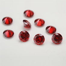 100pcs/lot 0.8~4.0mm Round Shape Loose CZ Stone Garnet Zirconia Synthetic Stone AAAAA Quality For Jewelry DIY stone