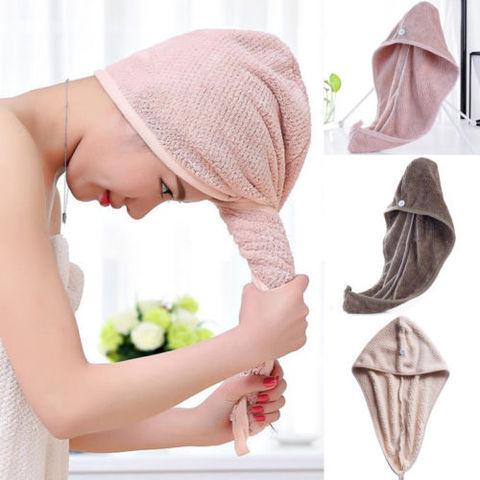 Magic Microfiber Hair Fast Drying Dryer Towel Bath Wrap Hat Quick Cap Turban Dry Pakistan