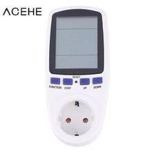 цена на EU plug Digital Volt Voltage Wattmeter Power Analyzer Electronic Power Energy Meter Automatic Kwh Power Switch
