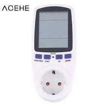 wattmeter digital watt meter power energy electricity 220v 250v electric voltage EU plug electronic monitor AC