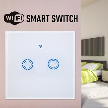 ЕС/Великобритания 1/2/3 банды умный сенсорный светильник беспроводной WiFi приложение дистанционное управление Голосовое управление для Google ...