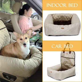 2 In 1 Pet Dog Carrier Folding Car Seat Pad Safe Carry House Puppy Bag Car Travel Accessories Waterproof Dog Seat Bag Basket 1