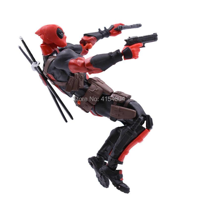X Men Super Hero Amazing Yamaguchi Deadpool Action Figure PVC Figurine Collectible Modelo Toy Presente de Natal Para Crianças