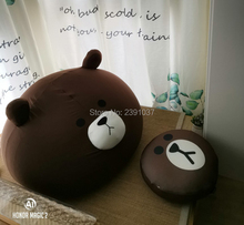 Brown Bear 1pc Sofa+1pc Pedal Cartoon Bean Bag  baby mini sofa children seat fauteuil enfant Tatami