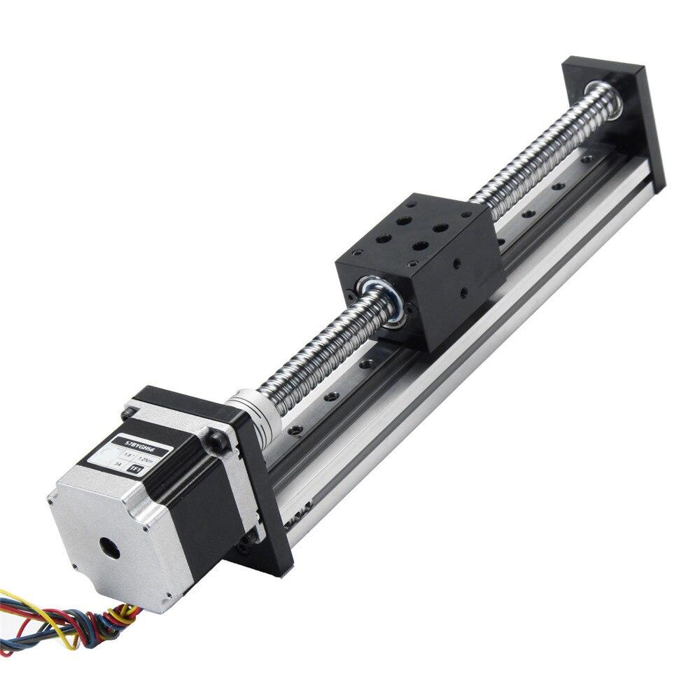 Nouveau 200mm Linéaire Actionneur SFU1605 Vis À Billes miniature Guide mouvement linéaire Rail En alliage D'aluminium avec 57mm Moteur pour CNC Routeur