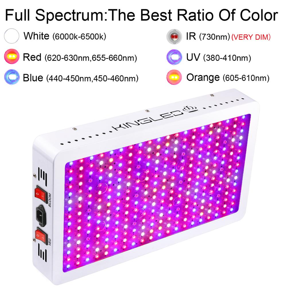 Image 2 - Led grow light full spectrum KINGLED 600W/1000W/1200W/1500W/2000W/3000W lamp for indoor plants cultivation grow box veg bloom-in LED Grow Lights from Lights & Lighting