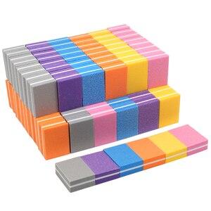 50pcs Mini Nail Sponge Nail File Buffer Block Buffing Sanding Professional Nail Tools Double sided Pedicure Manicure Small File
