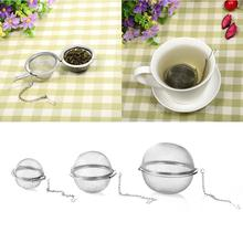 Stainless Steel Seasoning BallsTea Filter Tea Tools Locking Spice Egg Shape Ball Mesh Infuser Strainer