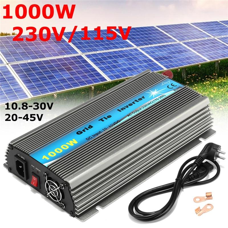цена на 1000W 22-50VDC Or 11-32VDC Solar Grid Tie Inverter Pure Sine Wave Smart Micro Inverter For 18V 30V 36V Solar Panel Accessories