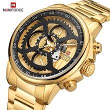 NAVIFORCE Mannen Roestvrij Staal Waterdichte Sport Horloges Heren Fashion Brand Business Quartz horloges Mannelijke Relogio Masculino